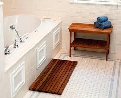 Teak Bath Mats Bamboo Shower Mat Elegant And Easier To Clean The Design  Home Improvement Teak