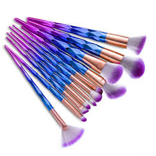 unicorn brush sets. unicorn makeup brushes 12pcs thread rainbow professional make up brush set blending powder foundation eyebrow eye contour brush.-in underwear from mother sets o