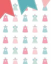 Behang Jurkjes Met Vlaggenlijn Roze Groen Tinklecherry