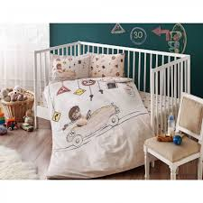 babytac ranforce baby bedding set driver beige