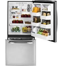 Kitchen Appliance Shop Ger 202 Cu Ft Bottom Freezer Refrigerator Gde20esess Ge