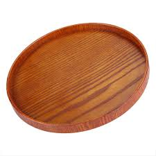 bamboo wood serving tray tea food server dishes