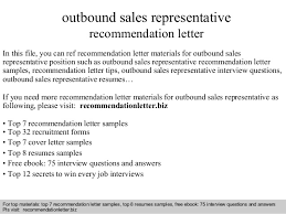 Interview questions and answers  free download/ pdf and ppt file outbound  sales representative recommendation ...