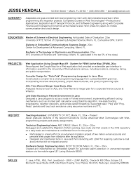 Resume Objective Examples For Internships