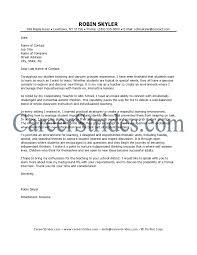 Teachers Cover Letter Example Sample Elementary Teacher Amusing