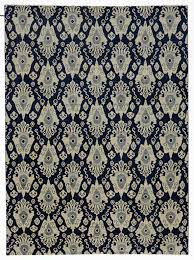 new modern transitional ikat rug navy blue ikat area rug in excellent condition for