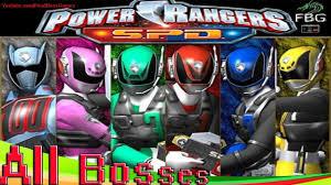 power rangers s p d all bosses