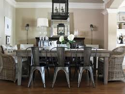 excellent image of dining room decoration u sing grey metal distressed wood dining chairs