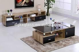 living room furniture glass top tea table center table design
