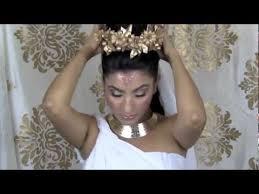 greek dess makeup hair costume toga tutorial