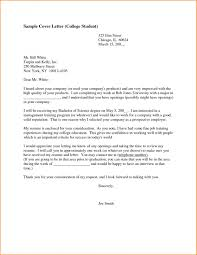 College Cover Letter Best Resume Cover Letter Examples For High In