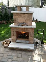 outdoor fireplace paver patio: an impressive outdoor fireplace paver idea