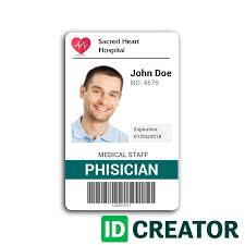 Card Wit Id Research Hospital Template Design Doctor 2 Identity