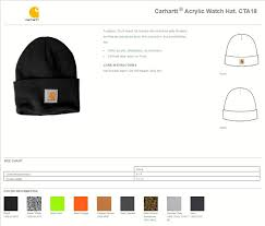 Carhartt Hat Size Chart Carhartt Watch Hat Acrylic Beanie A18 True To Size Apparel
