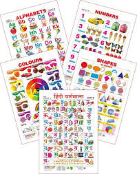 Spectrum Set Of 5 Educational Wall Charts Colours Shapes