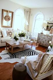 Zebra Rug Living Room Excellent Apartment Living Room Design Featuring White Upholstered