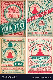 Design Party Invitations 4 Retro Christmas Party Invitations Holidays
