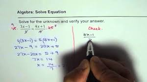 solve linear equation with fractions and check solution