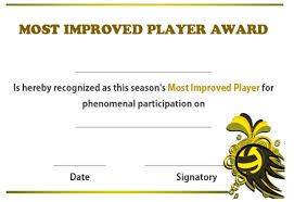 Most Improved Certificate Magdalene Project Org