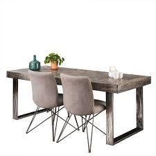 200x95 Esszimmer Tisch In Grau Lacazia
