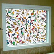 stained glass window clings leaf static cling sticker decor stickers for doors