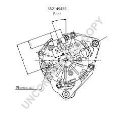 Prestolite leece neville 35214945s rear dim drawing leece neville alternator wiring diagram free download