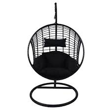 hanging swing chair with stand sao paulo black