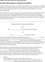 3 Memorandum Of Agreement Template Free Download