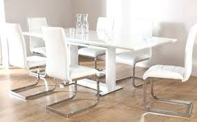 extending dining table 6 chairs white high gloss extending dining table and 6 chairs set white