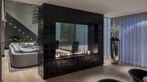 Floating Fireplace Living Room Modern With Fire Orb Cowhide Also