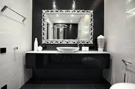 silver framed wall mirror modern bathroom vanities with white sink wall mounted storage and artistic silver frame wall mirror silver glass framed rectangle