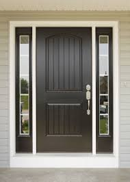 decorations stylish painted black front door for beautiful homes combine wide glass window and white