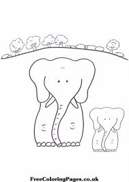 Free Mother And Baby Elephants Coloring Page Thelittleladybirdcom