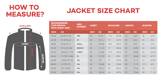 75 Explicit American Jacket Size Chart