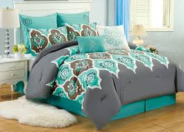 image of turquoise queen size comforter sets