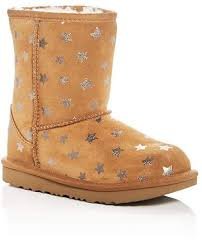 Ugg Big Kid Size Chart Girls Classic Short Ii Stars Suede Boots Little Kid Big