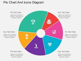 How To Do A Pie Chart In Powerpoint Six Staged Pie Chart And Icons Diagram Powerpoint Template