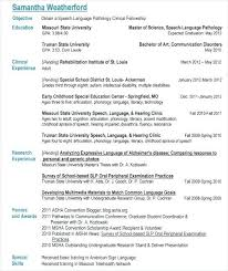 Speech Language Pathologist Resume Leviedellolio Awesome Speech Language Pathology Resume