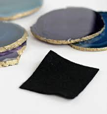 Agate Stone Coasters  Felt Pads