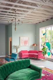 pink-sofa-and-brightly-colored-furniture