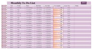 to do lists excel monthly task list template excel to do list excel templates zromtk