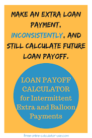 Loan Pay Off Calculator For Irregular Extra And Balloon