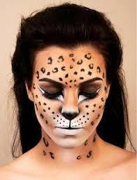 leopard print face paint makeup ideas