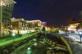 greenville creates a cozy atmosphere in its downtown area during the holiday season the lights and decorations are stunning