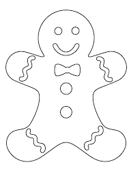 Gingerbread Coloring Pages Printable Ginger Bread Coloring Pages