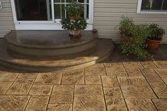 Stamped concrete patio with stairs Concrete Driveway Textured Step Treads Combined With Sponge Float Risers Accent Color Gives These Steps Variety Stamped Concrete Patioscolored Pinterest 26 Best Concrete Front Steps Images Concrete Front Steps