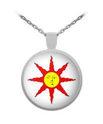 dark souls sun pendant necklace