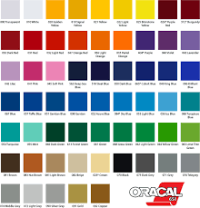 Oracal 651 Color Chart Oracal 651 Gloss 12x12