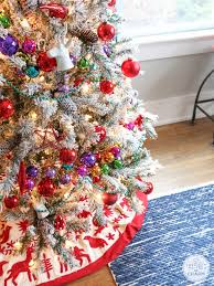 Flocked Christmas Tree Flocked Christmas Tree Inspired By Charm