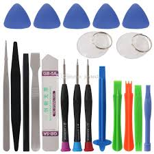 iphone repair kit. professional 20 in 1 mobile phone repair tools set kit pry opening tool screwdriver for iphone ipad samsung cellphone hand